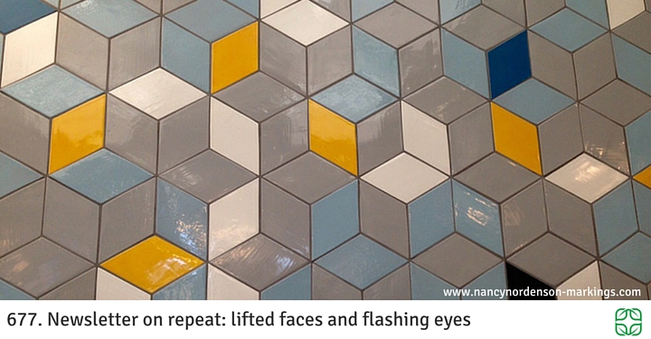 677. Newsletter on repeat: lifted faces and flashing eyes
