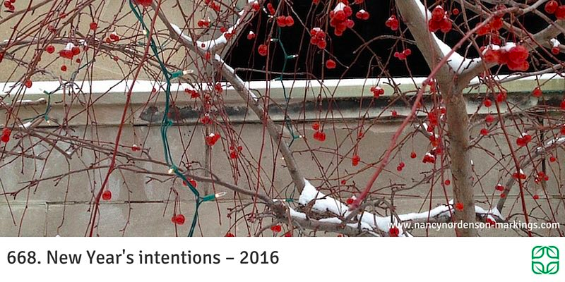 668. New Year's intentions – 2016